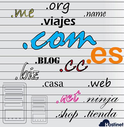 dominios extensiones hostinet