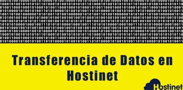 Transferencia de Datos en Hostinet