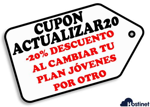 Hostinet Cupon Actualizar20 Plan Jóvenes