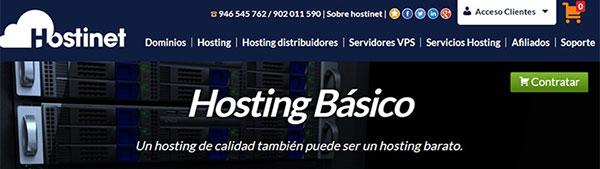 Hosting Básico Hostinet