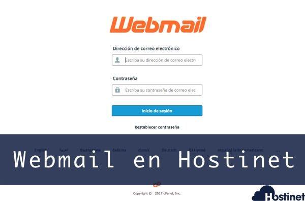 acceso webmail en Hostinet cuenta correo electronico