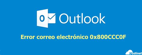 Microsoft Outlook error 0x800ccc0f