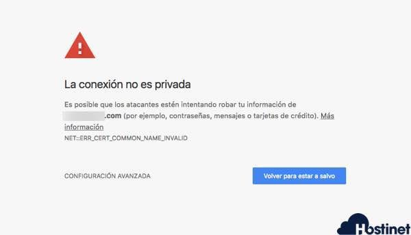 Chrome - La conexión no es Privada