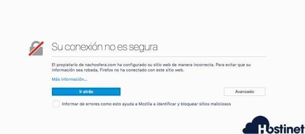 Firefox - Su Conexión no es Segura