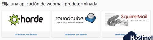 aplicaciones webmail gratuitas en hostinet