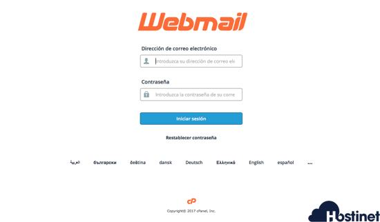 acceder a Webmail con Hostinet