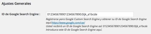 ID de Google Search Engine