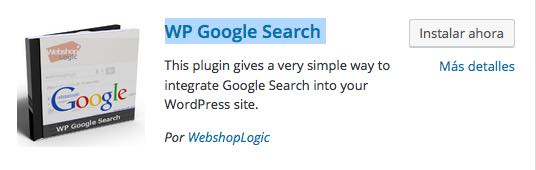 plugin WP Google Search