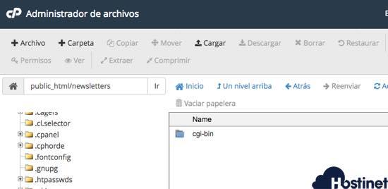 crear un nuevo  archivo index.html  cpanel