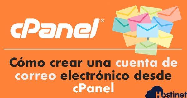 Cómo crear una cuenta de correo electrónico desde cPanel