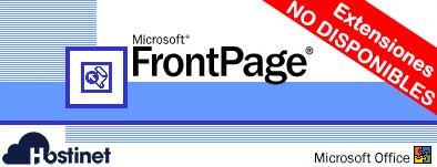 FrontPage Extensiones No Disponible