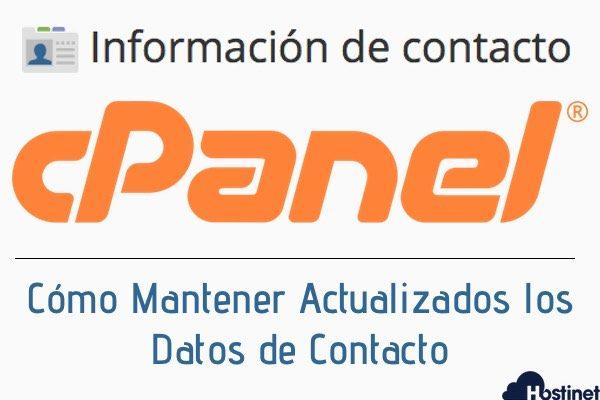 ¿Cómo actualizar los datos de contacto en el panel de control cPanel?