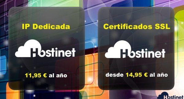 IP dedicadas y Certificados SSL en Hostinet