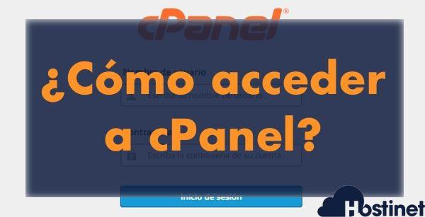 ¿Cómo acceder a cPanel para gestionar nuestro alojamiento web?