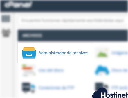 admninistrador de archivos cpanel - Hostinet