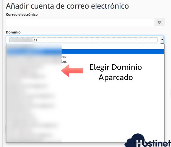 cuentas de correo dominios aparcados