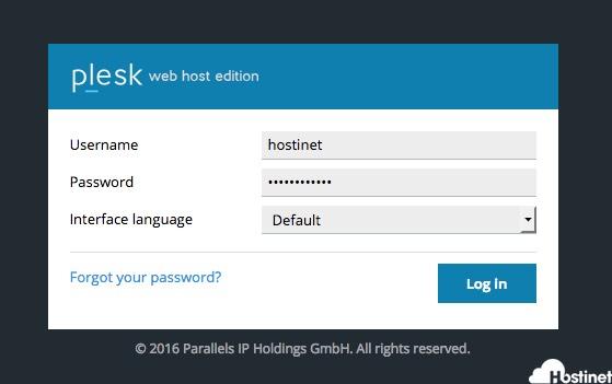 Cómo Acceder al Panel de Control de mi Alojamiento Web si uso Plesk