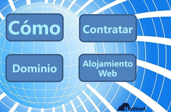 cómo contratar un dominio y un alojamiento web