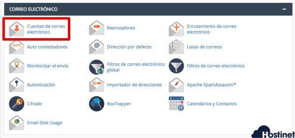 Crear un Cuenta de Correo en cPanel