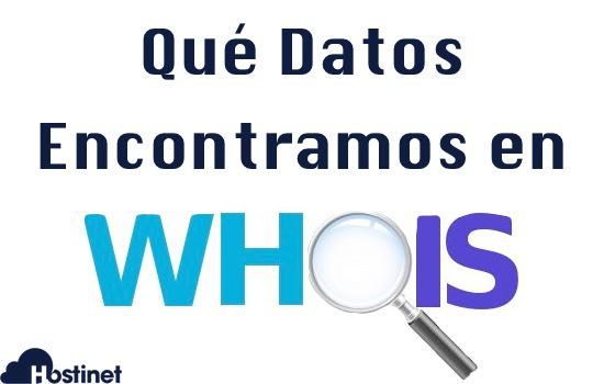 ¿Qué datos nos encontramos en un whois?