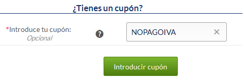 Cupón NOPAGOIVA