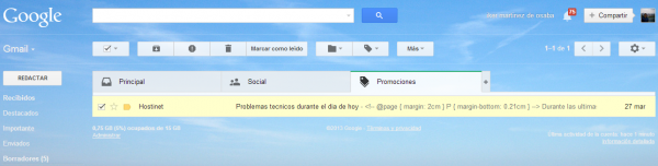 Hostinet en Gmail 2