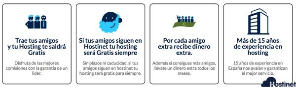 Hostinet Amigos  -  Tu Hosting Puede Salirte Gratis