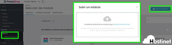 PrestaShop 1.7 Backoffice Subir Módulo