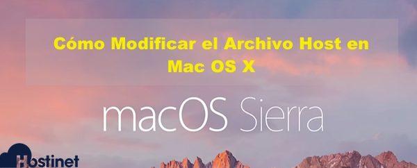 Cómo Modificar el Archivo Host en Mac OS X