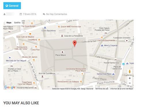mapa insertado Wp Google Maps