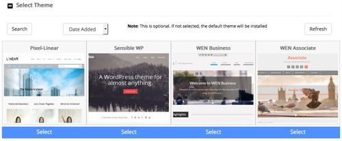 seleccionar tema para WordPress