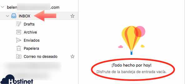 emails imap bandeja vacia Outlook
