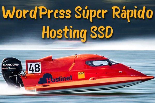 WordPress Súper Rápido - Hosting SSD