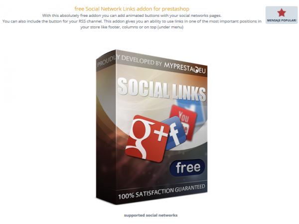 Insertar los iconos de redes sociales en Prestashop 1