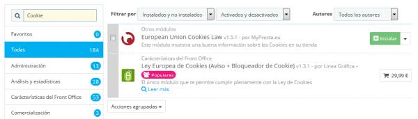 politica cookies Prestashop 3