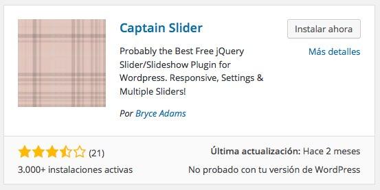 Plugin Captain Slider para WordPress