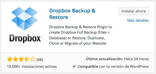 pluging Dropbox Backup  Restore