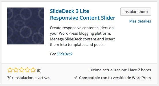 Plugin SlideDeck 3 para WordPress