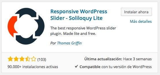 Plugin Soliloquy lite para WordPress