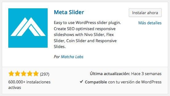 plugin meta slider para wordpress