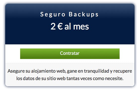 seguro backups por 2€ al mes