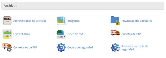 CPanel Seccion Archivos