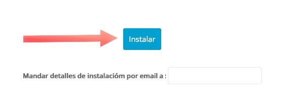 Instalar  en un click con Softaculous