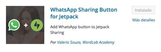 Sharing Button para Watsapp