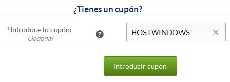 Cupón descuento para planes Windows de Hostinet