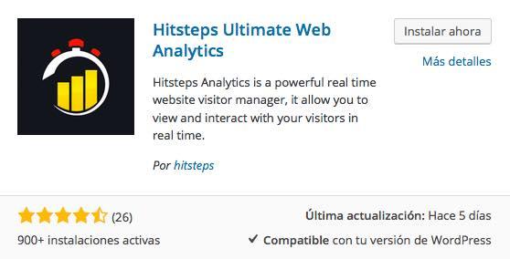 Hitsteps Analytics plugin