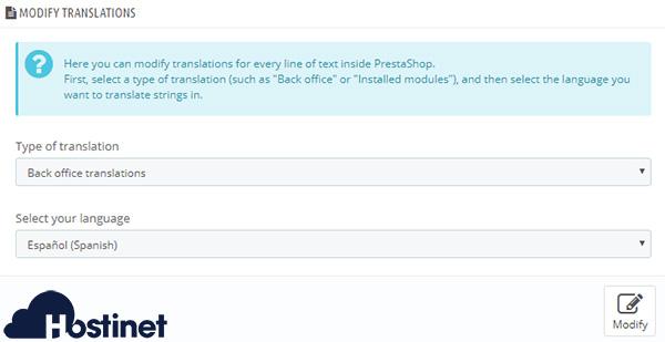 PrestaShop 1.7 Modify Translations 2