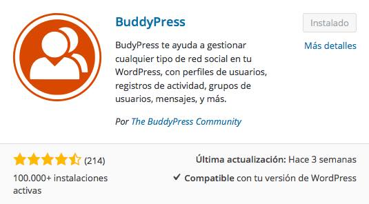 buddypress plugin wordpress