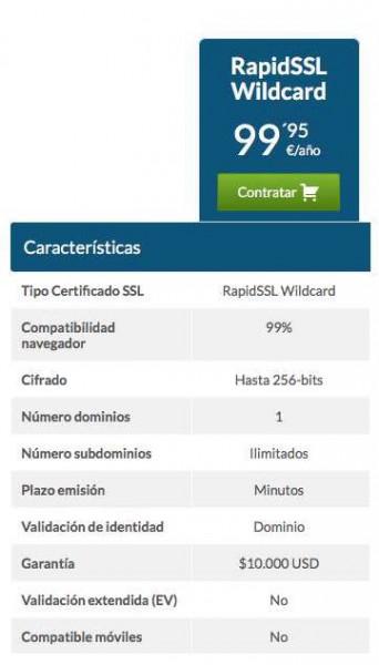 PRECIO CERTIFICADO SSL AMAZON WILDCARD