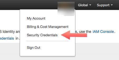 credenciales de seguridad de AWS